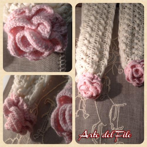 Sciarpa rose 2